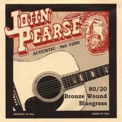 John Pearse 250LM Acoustic Guitar Strings Set 15-56 80/20 Bronze