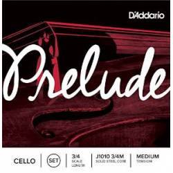 D'Addario Prelude J1010 Cello String Stet 3/4 Medium