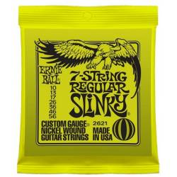 Ernie Ball 2621 Electric Guitar 7 Strings Set 10-56