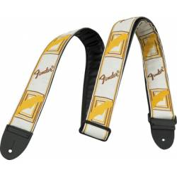 Fender Strap Monogrammed White-Brown-Yellow