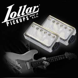 "Lollar Humbucker Imperial F-Spaced Set Nickel/Pearl - ""The Michael Landau HH Set"""