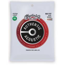 Martin MA170T Acoustic String Set Authentic Lifespan 2.0 Bronze 10-47
