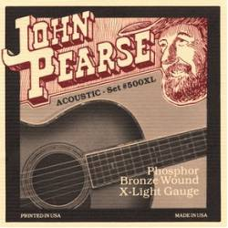 John Pearse 500XL Acoustic Guitar Strings Set 10-47 Phosphor Bronze