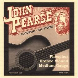 John Pearse 700M Acoustic Guitar Strings Set 13-56 Phosphor Bronze