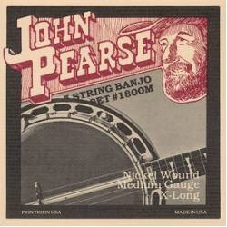 John Pearse 1800M Banjo 5 Guitar Strings Set 10-10 Nickel