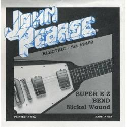 John Pearse 2400 Electric Guitar Strings Set 09-42 Nickel Wound