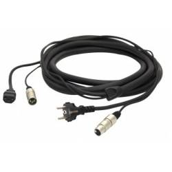 Proel PH080LU20 Line-Power Cable Xlr(F)-Schko16A / Xlr(M)-Schko16A MT 20